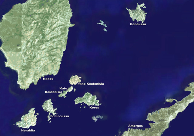 Map of Koufonisia Islands